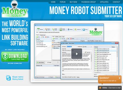 Money Robot Submitter is the most powerful SEO automationtool
