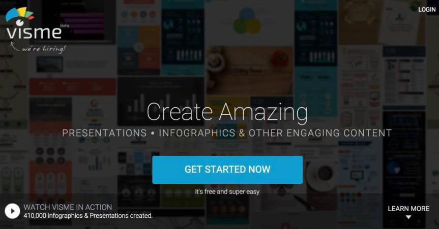 Make Professional Presentations and Infographics Online with Visme's freetool