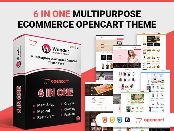 Wonder Multipurpose Ecommerce OpenCart ThemesPack