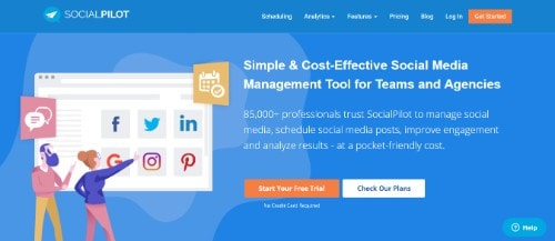 SocialPilot Social media marketing tool to increase brand awareness & traffic