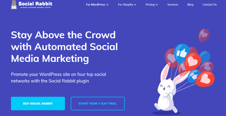 Social Media Plugin for Auto-Running Social Accounts 24/7 Social Rabbit